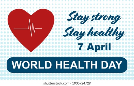 World health day - holiday concept poster