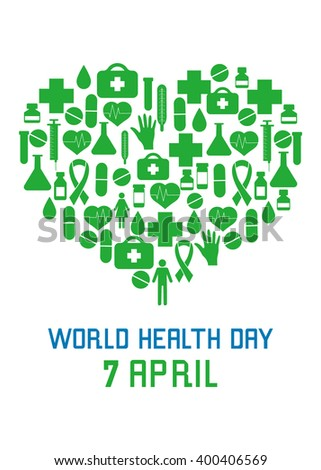 World Health Day On 7 April Background For Banners Leaflets Posters Advertising