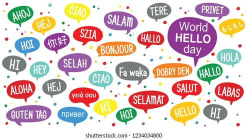 Hello Languages Images, Stock Photos & Vectors | Shutterstock