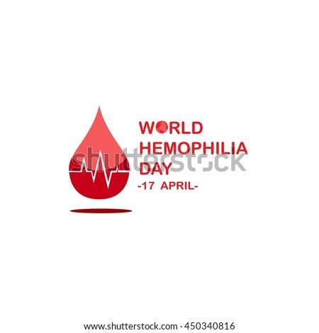 World Hemophilia Day Campaign Design Template Image Vectorielle De