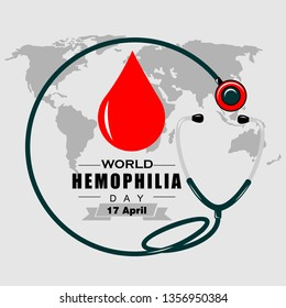 world hemophilia day, illustration vector
