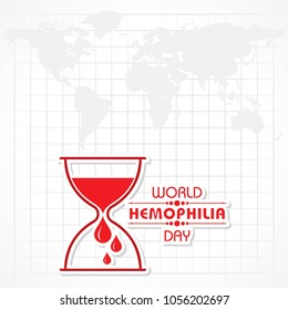 World Hemophilia Day Vector Illustration. Suitable for greeting card, poster and banner