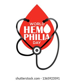 World Hemophilia Day,Poster Or Banner Background.