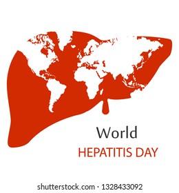 world hepatitis day background.