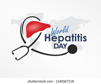 World Hepatitis Day Design Template Vector. Suitable for Greeting Card, Poster and Banner World Hepatitis Day with nice and creative design illustration beautiful abstract liver world healthy concept