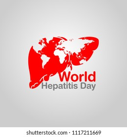 World Hepatitis Day vector logo icon illustration