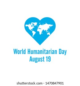 world humanitarian day logo template