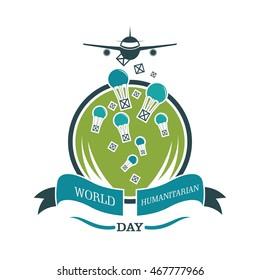 World Humanitarian Day Vector Design. Great Awareness campaign design.