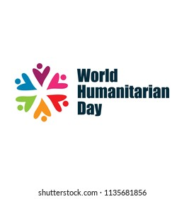 World Humanitarian Day Vector Template Design Illustration