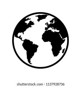 World icon. Globe icon. World vector icon