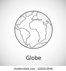 World Icon isolated on background. Trendy Simple vector symbol for web site design or button to mobile app. Vector