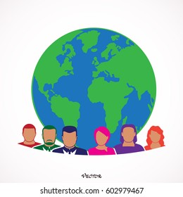 World icon Vector Illustration on the white background.