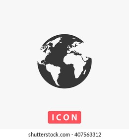world Icon Vector. Simple flat symbol. Perfect Black pictogram illustration on white background.
