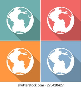 The World icons set great for any use. Vector EPS10.