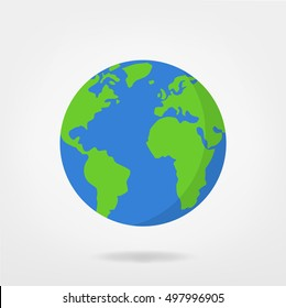 world illustration - planet earth vector graphic