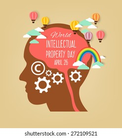 World Intellectual Property Day. vector illustration.
