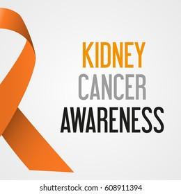 world kidney cancer day awareness poster eps10