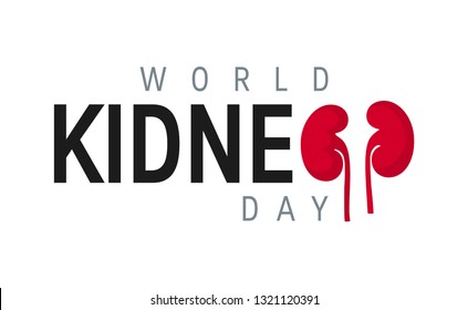 World kidney day concept. Minimalistic horizontal design for posters, web banners, infographics etc. in flat style, vector