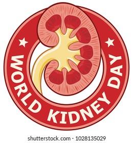World Kidney Day label