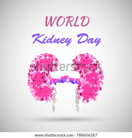 World kidney day vector illustration low stock vector royalty free world kidney day vector illustration in low poly style great for greeting card poster m4hsunfo