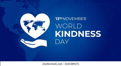 World Kindness  Day Blue Illustration Background