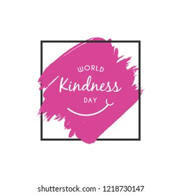 World kindness day design template. Vector eps 10