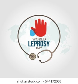 World Leprosy Day Vector Illustration.
