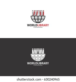 World Library Logo in Vector