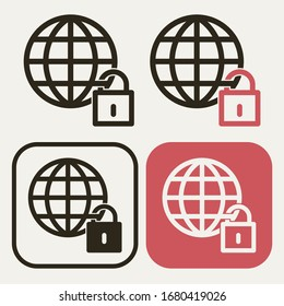 World lockdown vector icon of pandemic effect of covid 19 diffusion