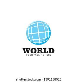 World Logo Icon Design Vector Illustration