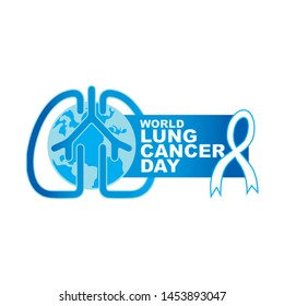 World Lung Cancer Awareness Day Vector Symbol