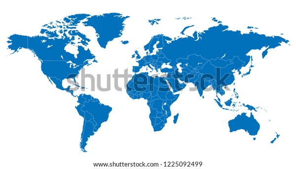 World Luxembourg Map Vector Stock Vector Royalty Free 1225092499