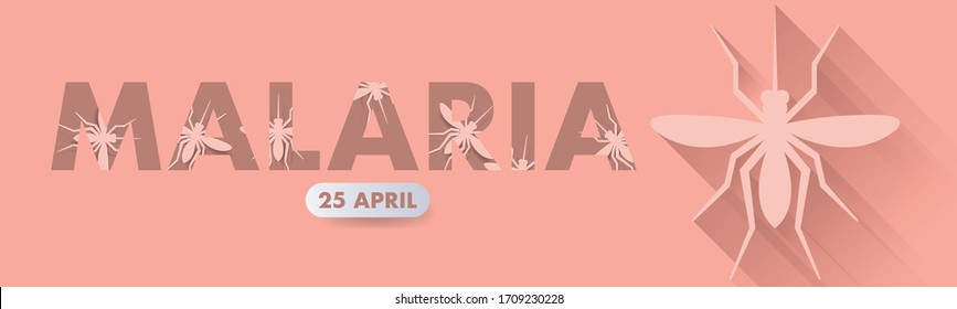 World Malaria Day logo icon design, vector illustration. Malaria Day vector banner and poster design.