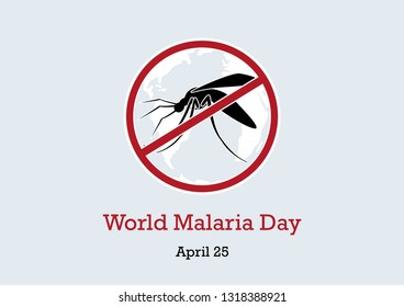 World Malaria Day vector. Mosquito vector illustration. Gnat silhouette. Stop mosquitoes images. Important day