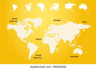 World map vector illustration inscription oceans stock vector world map gumiabroncs Choice Image