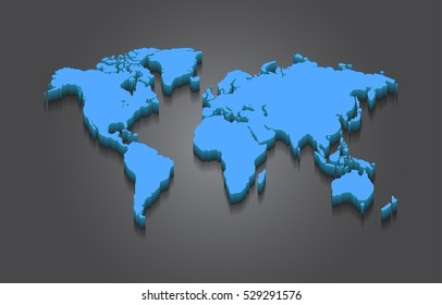 3d world map images stock photos vectors shutterstock world map 3d elevated vector design on grey background gumiabroncs Choice Image