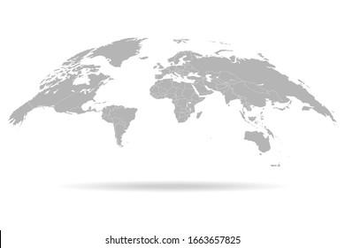 World map. 3D globe world map. Vector Illustration
