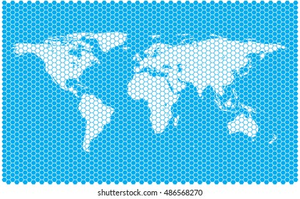 world map. abstract world map.