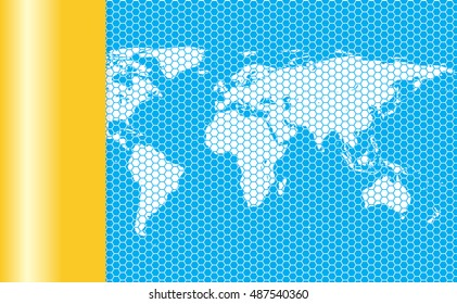 world map. abstract world map.material background.