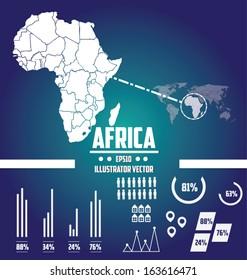 world map Africa illustrator vector