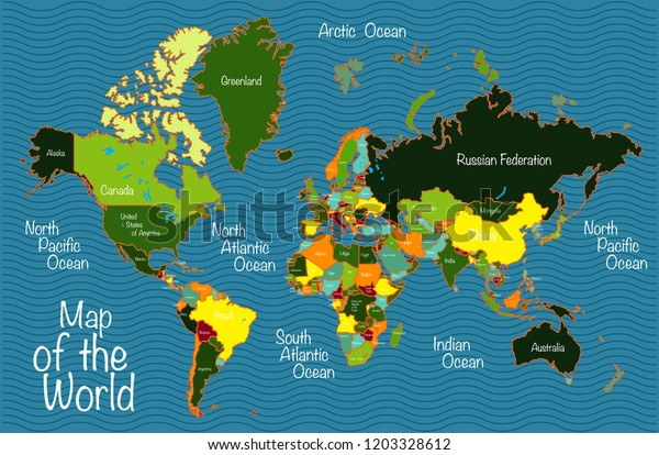 World Map All Countries Oceans Stock Vector (Royalty Free ... on map of white countries, outline of all countries, european countries, map of all south west asia, map of all football teams, capital city of all countries, map of all nations, map of all states, people of all countries, map of surrounding countries, map of all tribes, map of all peninsulas, printable world map showing countries, world map with countries, spanish speaking countries, map of all time, map of all places, map of massachusetts with all towns, map of all regions, map of individual countries,