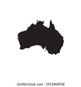 World map Australia illustration. Vector picture. Australia map.