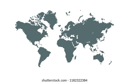 World map background. Vector earth map design