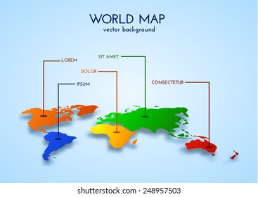 World map background. Vector eps10/