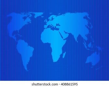 World map blue icon