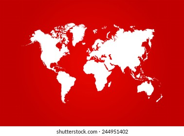 Blueprint australia images stock photos vectors shutterstock world map blueprint with red background vector malvernweather Images
