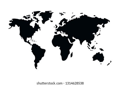 world map cartoon