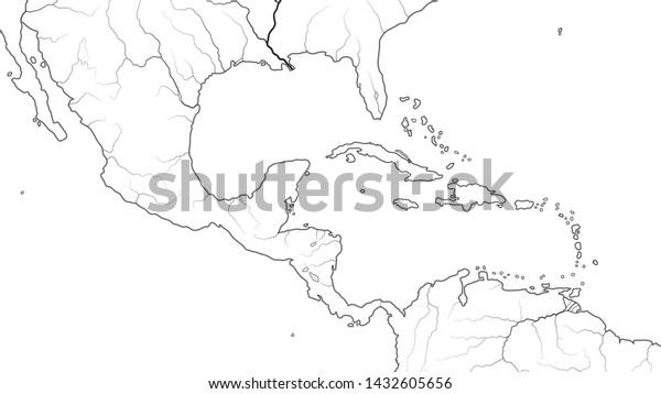 World Map Central America Caribbean Basin Stock Vector ...