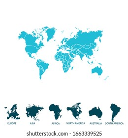 World map. color vector modern map