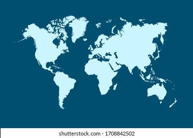 Mapa mundial de colores vectorial moderno
